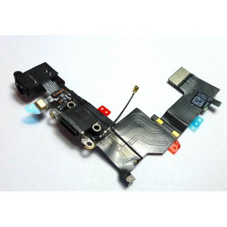 iPHONE 5S Taśma ze złączem Lightning i HF czarna ORYGINALNA