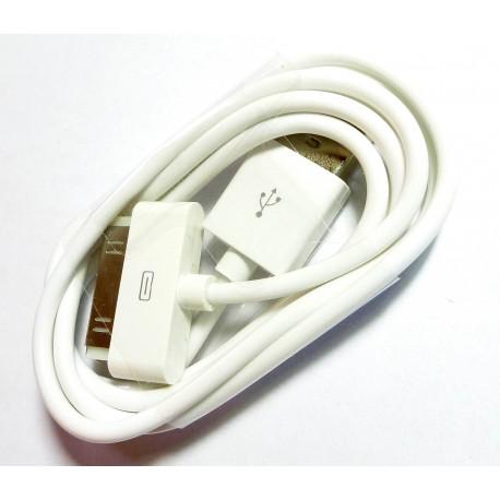 iPHONE 3G 3GS 4G 4S iPAD iPOD Kabel USB biały standard
