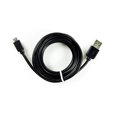 KABEL USB - MICROUSB NOKIA SAMSUNG LG MOTOROLA czarny 300cm