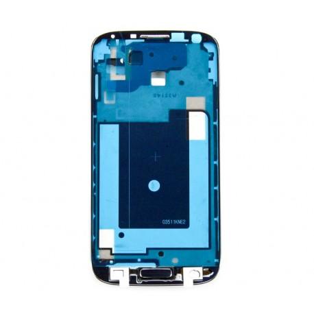 Samsung i9505 GALAXY S4 LTE i9515 Ramka LCD + przycisk menu granatowy