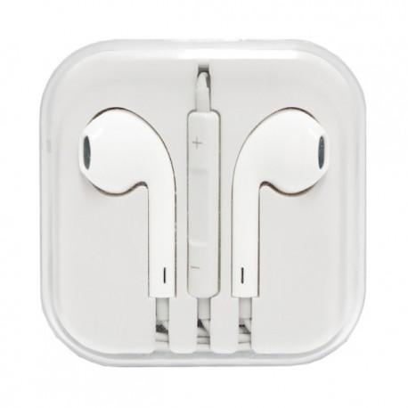 HF iPHONE iPOD iPAD APPLE STEREO z mikrofonem białe 3,5mm pudełko