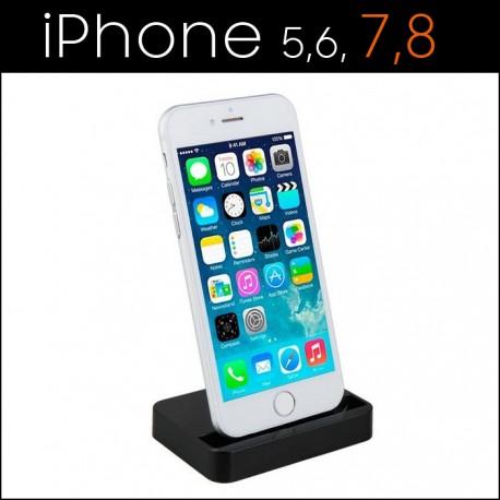 Ładowarka biurkowa iPHONE 8 7 6S 6 5 5S 5C 5SE czarna