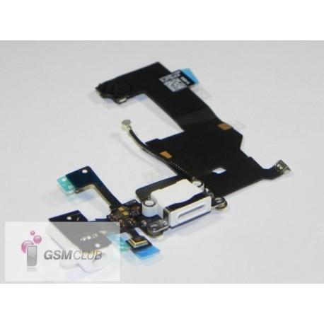 iPHONE 5 Taśma ze złączem USB i HF biała ORYGINALNA