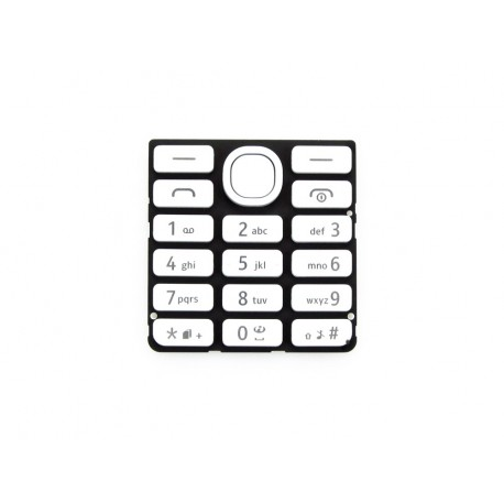 Nokia 206 Asha Klawiatura biała ORYGINALNA WHITE DS