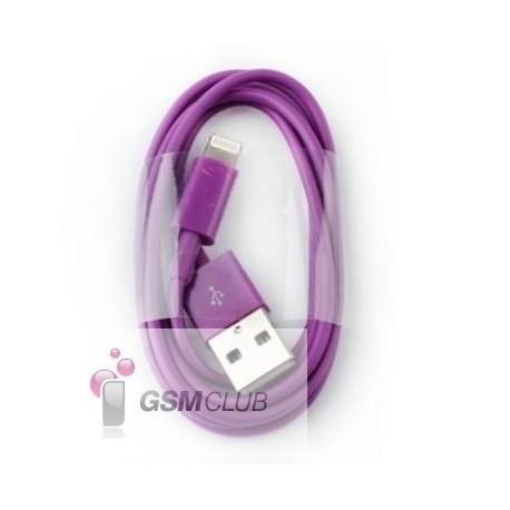 Kabel USB - Lightning iPhone fioletowy