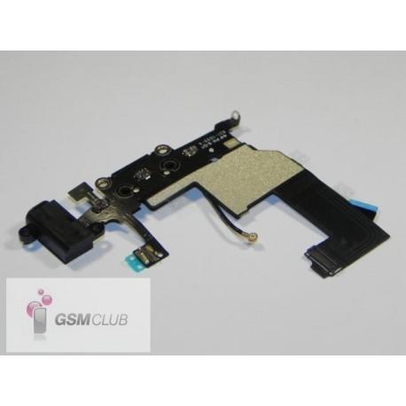 iPHONE 5 Taśma ze złączem USB i HF czarna ORYGINALNA