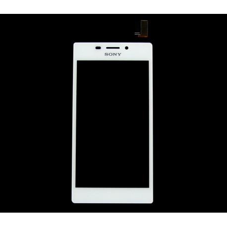 Sony Xperia M2 DUAL D2302 D2303 D2305 D2306 S50H DIGITIZER biały