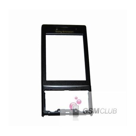 Sony Ericsson J20i HAZEL Obudowa Czarna przód ORYGINALNA BLACK