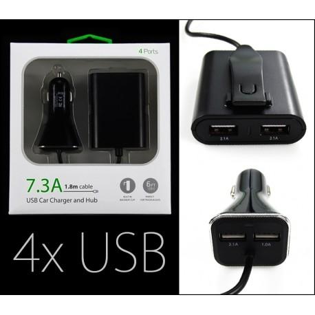 Ładowarka 12V --- 4X USB 5V 2.1A + 1A i 2.1A + 2.1A BLISTR 7,3A
