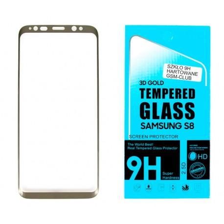 Samsung SM-G950F GALAXY S8 PROTECTOR SZKŁO HARTOWANE NA LCD 9H 3D GOLD