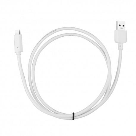 KABEL USB - MICROUSB TYP C USB 3.0 biały