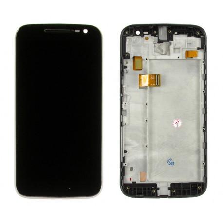 Motorola LENOVO Moto G4 Wyświetlacz LCD + DIGITIZER BLACK z ramką