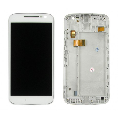 Motorola LENOVO Moto G4 Wyświetlacz LCD + DIGITIZER WHITE z ramką