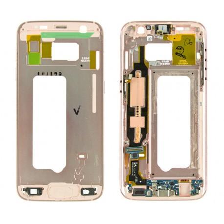 Samsung SM-G930F GALAXY S7 Taśma + złącze microUSB + korpus PINK z taśmą boczną ORYGINALNY
