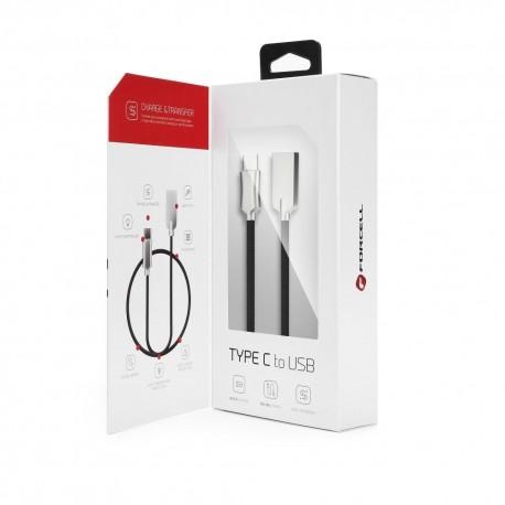 Kabel USB - MICROUSB nylon z podświetlaną wtyczką