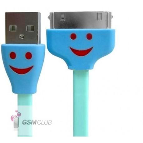 iPHONE 3G 3GS 4G 4S iPAD iPOD Kabel USB niebieski PODŚWIETLANIE LED